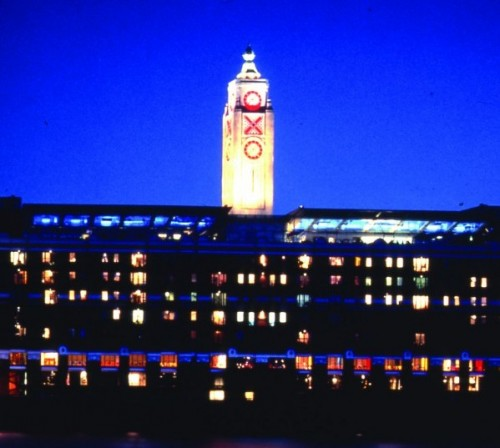 Oxo Tower at night