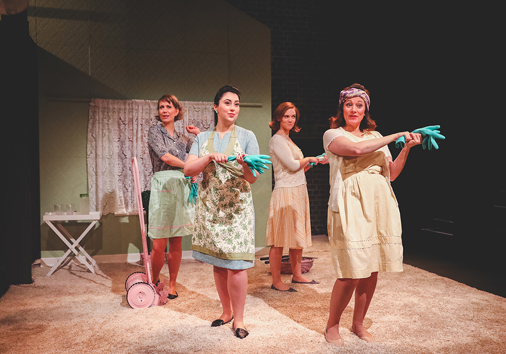 OperaUpClose. (Left) Flora McIntosh, Alexandra Stenson, Caroline Daggett, Kathryn Hannah. By Andreas Grieger.