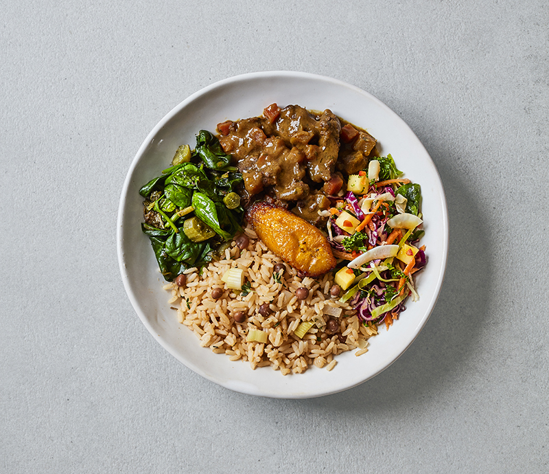 Curried Goat Box Meal