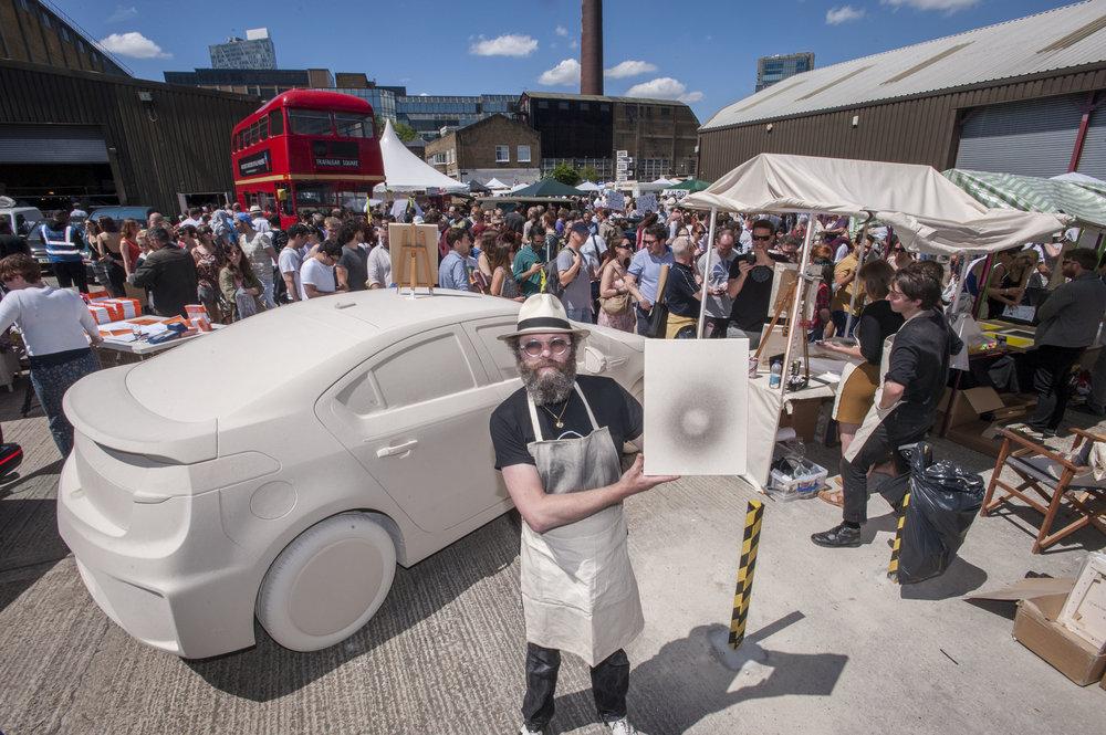 The Vauxhall Art Car Boot fair 2014 , Truman Brewery, Brick Lane , E1